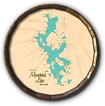 Moosehead Lake Maine Vintage-Style Map Art on 21