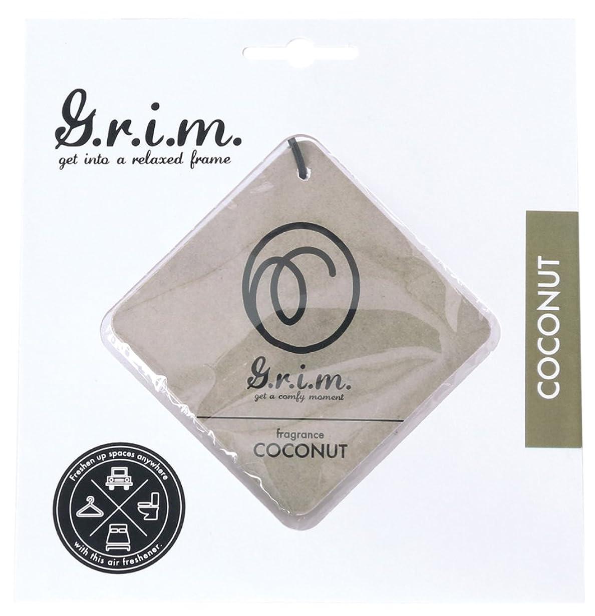 破壊的ラダアストロラーベノルコーポレーション エアーフレッシュナー g.r.i.m 吊り下げ ココナッツの香り OA-GRM-3-4