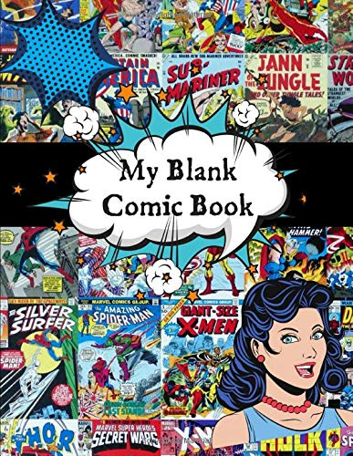 My Blank Comic Book: My Blank Comic Book This 120 Page Large 8.5