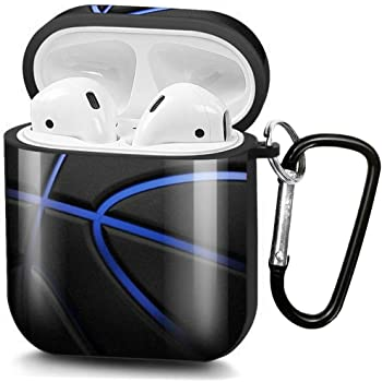 ZacharyMarcus AirPods Case, Premium TPU Shockproof Protective Cover for AirPods 2 & 1, AirPods 2 & 1 Charging Case Headphone Case with Keychain -Cool Basketball (No LED Light)