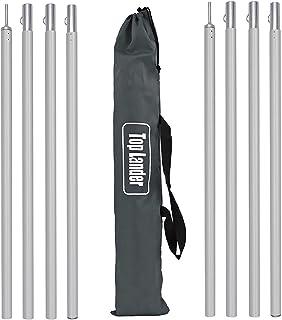 Ranana palen voor dekzeilen, houder voor camping, palen van aluminiumlegering, stang van aluminiumlegering, 2 meter, stang...