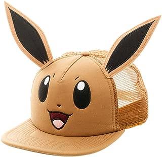 Pokemon Eevee Big Face Trucker Baseball Hat Brown