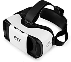 EV 3D VR Headset, Virtual Reality Glasses for 3D Movies and Games, Adjustable Strap, Focal and Object Distance, for 4.7-5.7 Inch Mobile Phones