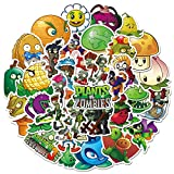 Plants vs. Zombies Stickers 50pcs for Laptop and Water Bottle, Cool Cartoon Waterproof Decal for Teen Computer, Skateboard, Travel Case, Phone