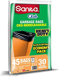 Trash Bags Sanita Club, 30 Gallons, 45 Bags