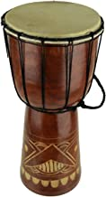 Hand Crafted Wood Djembe Hand Drum 16 inch Tall