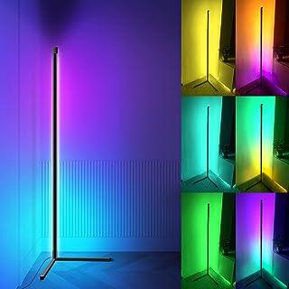 Lampadaire LED,156cm Lampadaire D'angle avec Télécommande et APP Contrôler,Couleur Changeante RVB Lampadaire Sur Pied Inte...