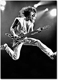 Wall decor Eddie Van Halen Canvas Poster (13 x 19 Inches) | Ready to Frame for Office, Living Room, Dorm, Kids Room, Bedroom, Studio
