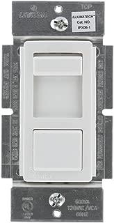 Leviton IPX06-10X IllumaTech 600VA Preset Electronic Mark 10 Powerline Fluorescent Slide Dimmer, Single Pole and 3-Way, White/Ivory/Almond