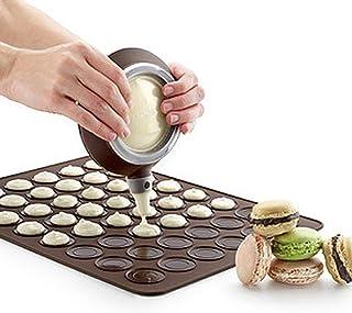 LLAAIT 1 pcs 30-Cavity Tapis De Cuisson Silicone Macaron Pâtisserie Four Cuisson Moule Feuille Tapis DIY Moule Tapis De Cu...