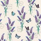 Ambiente - Tovaglioli di carta a 3 strati, colore: Lavanda con Amore Crema