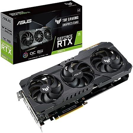ASUSTek TUF Gaming NVIDIA GeForce RTX 3060 Ti 搭載ビデオカード / OC / PCIe 4.0 / 8GB GDDR6 / HDMI 2.1 / DisplayPort 1.4a / デュアルボールファンベアリング / ミリタリーグレードのコンデンサ / GPU Tweak II / TUF-RTX3060TI-O8G-V2-GAMING