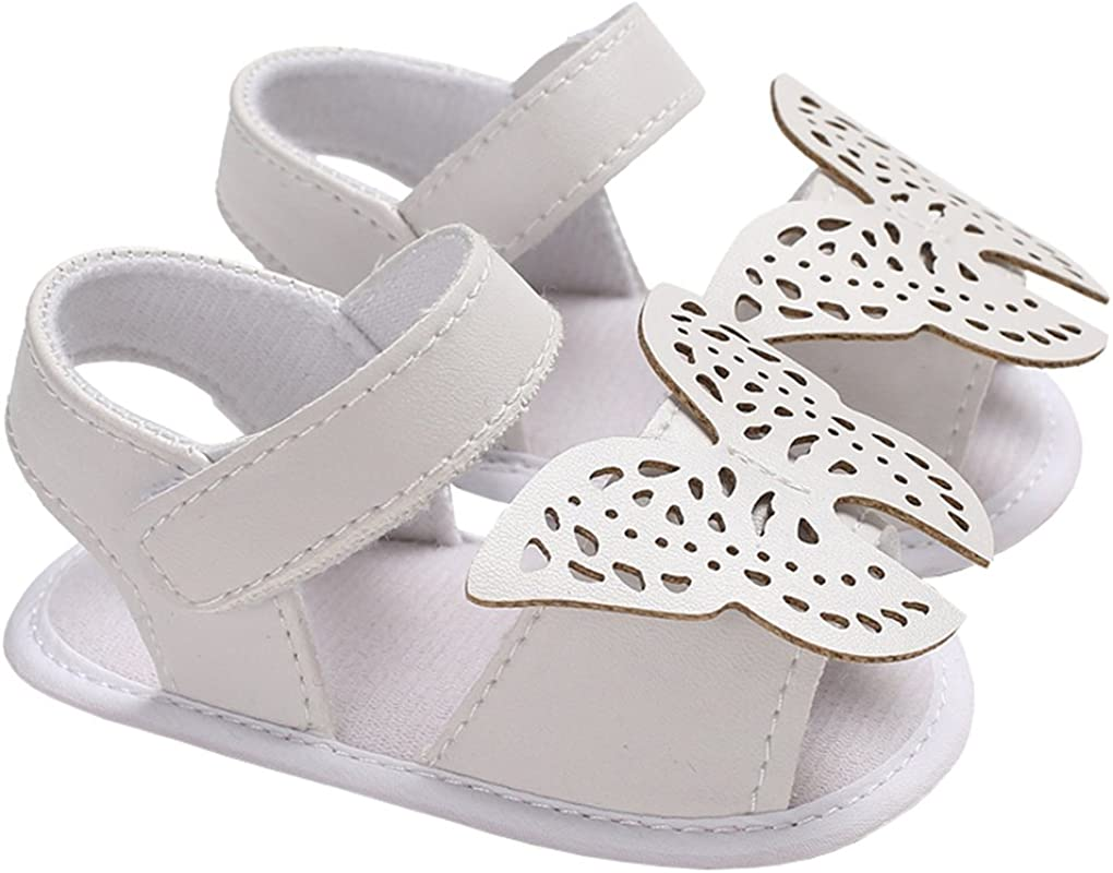 lakiolins Year-end annual account Baby Girls Hollow Butterfly Open Weekly update Toes Sandals Anti-Sli