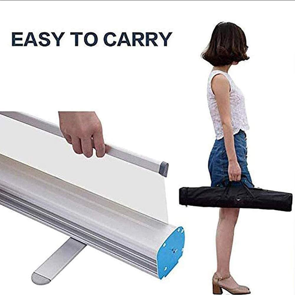 DAGCOT Roll up Sneeze Guard Transparent Banner Spit Protection Partition Screen Offices Libraries Size : 80200cm Cough Protection Screen Social Distancing Shield