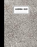 Agenda 2021: Gennaio-Dicembre 2021 - Stile Quaderno Americano (Formato 20x25 cm)