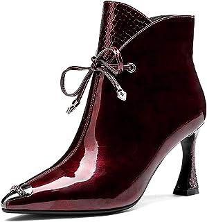 Tacchi Alti Sottolineato Stivaletti Horseshoe Pelle Verniciata delle Donne Martin Bottini Wedding Party Dress Shoes