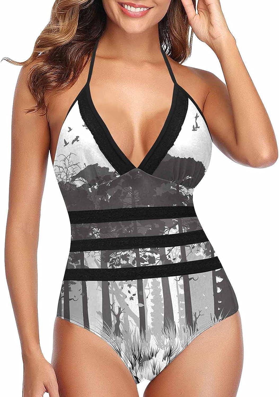 InterestPrint Wolf Printanimal Art 67% OFF of fixed price Women's Halter Weekly update Swimming Suit