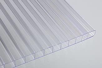 Falken Design Falkenacrylic-MW-CL-8MM/2424 Mw-CL-8mm/2424 Multiwall Polycarbonate Sheet, Greenhouse Cover, 8mm (0.314