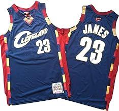 WZ Lebron James Jersey NBA Cleveland Cavaliers # 23 Jersey, Jersey Retro Clásico, Bordado De Malla con Capucha, Unisex Ventilador Jersey,M:175cm/65~75kg