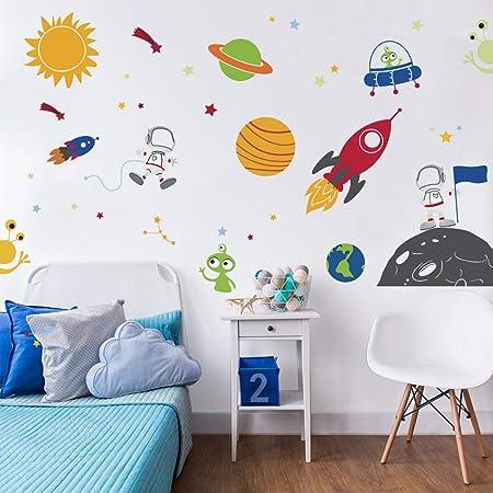 Star Space Ship Spaceship Fighter Galaxy Rocket Wall Decal Vinyl Sticker Mural Room Decor L1217