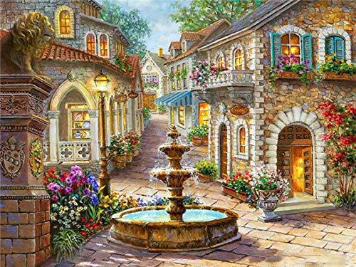 Luoyanglex Ronde diamant 5d DIY diamant schilderij tuinhuis kruissteek strass handwerk mozaïek geschenk muursticker huis decoratie