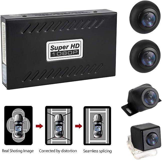 MiCarBa sistema de estacionamiento de Ojo de pájaro panorámico de 360 Grados con cámara de grabación G-Sensor cámara de visión Trasera Impermeable