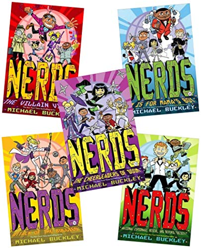Nerds Series Collection Michael Buckley 5 Books Set (NERDS (National Espionage, Rescue, and Defense Society),M is for Mama's Boy,Attack of the Bullies, The Cheerleaders of Doom, The Villan Virus