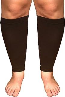 آستین فشرده سازی گوساله فوق العاده گسترده Runee - پشتیبانی ساق پا برای گوساله های وسیع ، آستین فشرده سازی برای درد گوساله و شکاف شکاف ، ورم تسکین دهنده ، واریس ، واریس ، DVT (سیاه)