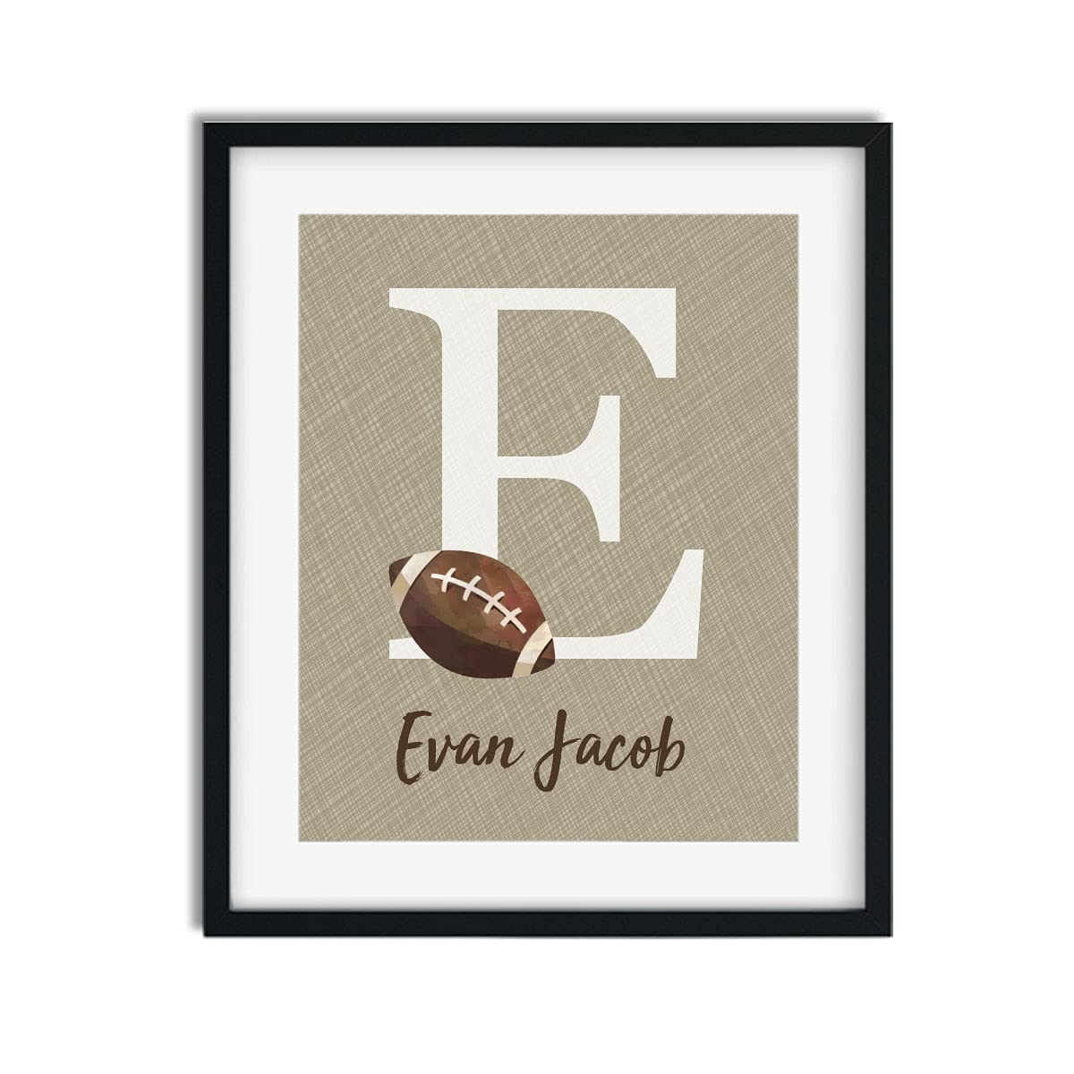 Free shipping anywhere in the nation Football Collage Art Print Sales Name P Boy Decor