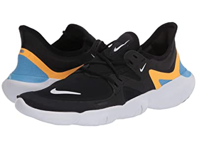 Nike Free RN 5.0 (Black/White/University Blue) Men