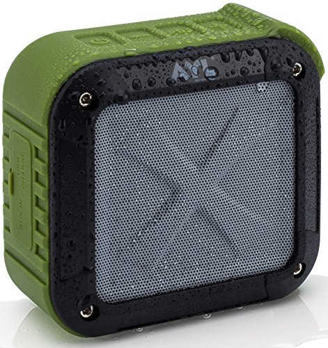 AYL Soundfit Bluetooth Shower Speaker - Certified Waterproof - Wireless, Easy Pairing with All Bluetooth Devices, Phones, Tablets, Computers (Green)