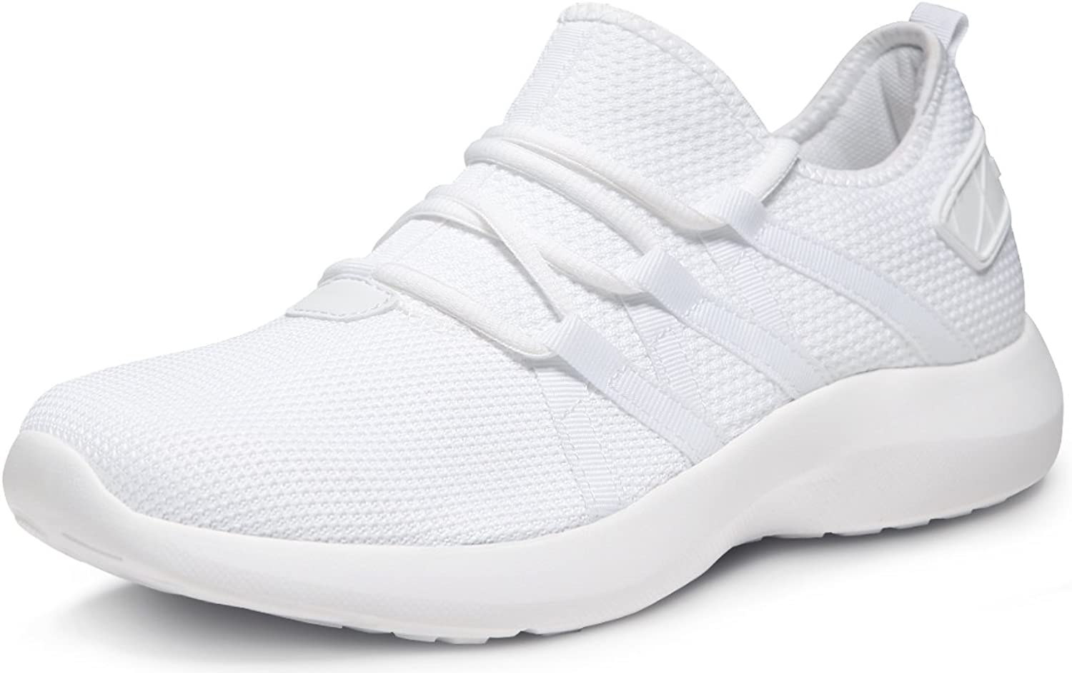 TF-X735-WHT_Men 8 D(M) Tesla Unisex Boost Slip-on Design Running Walking Sneakers Performance shoes X735
