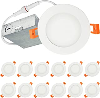 3000K 725Lm ETL Listed No Can Needed 50 Watt Replacement OSTWIN 4 Inch LED Recessed Ceiling Light Fixture 10W IC Rated Downlighter Junction Box Dimmable Warm Light