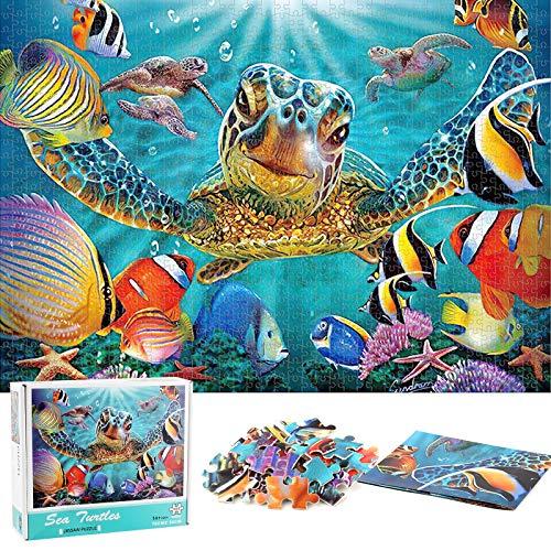 1000 Piezas Rompecabezas,Mundo Animal,Ilustraciones de Juegos de Rompecabezas para Adultos,Puzzle Creativo,Rompecabezas para Niños