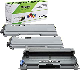 PayForLess 2PK TN350 TN-350 Toner Cartridge + 1PK DR350 DR-350 Drum Unit Compatible for Brother HL-2070N HL-2040 DCP-7020 MFC-7420 MFC-7225N MFC-7820N Intellifax-2820