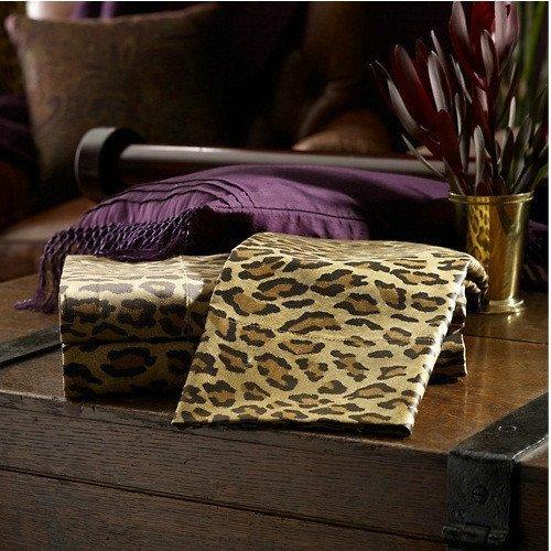 Ralph Lauren Leopard Print King Size Pillowcases (2 in Pack)
