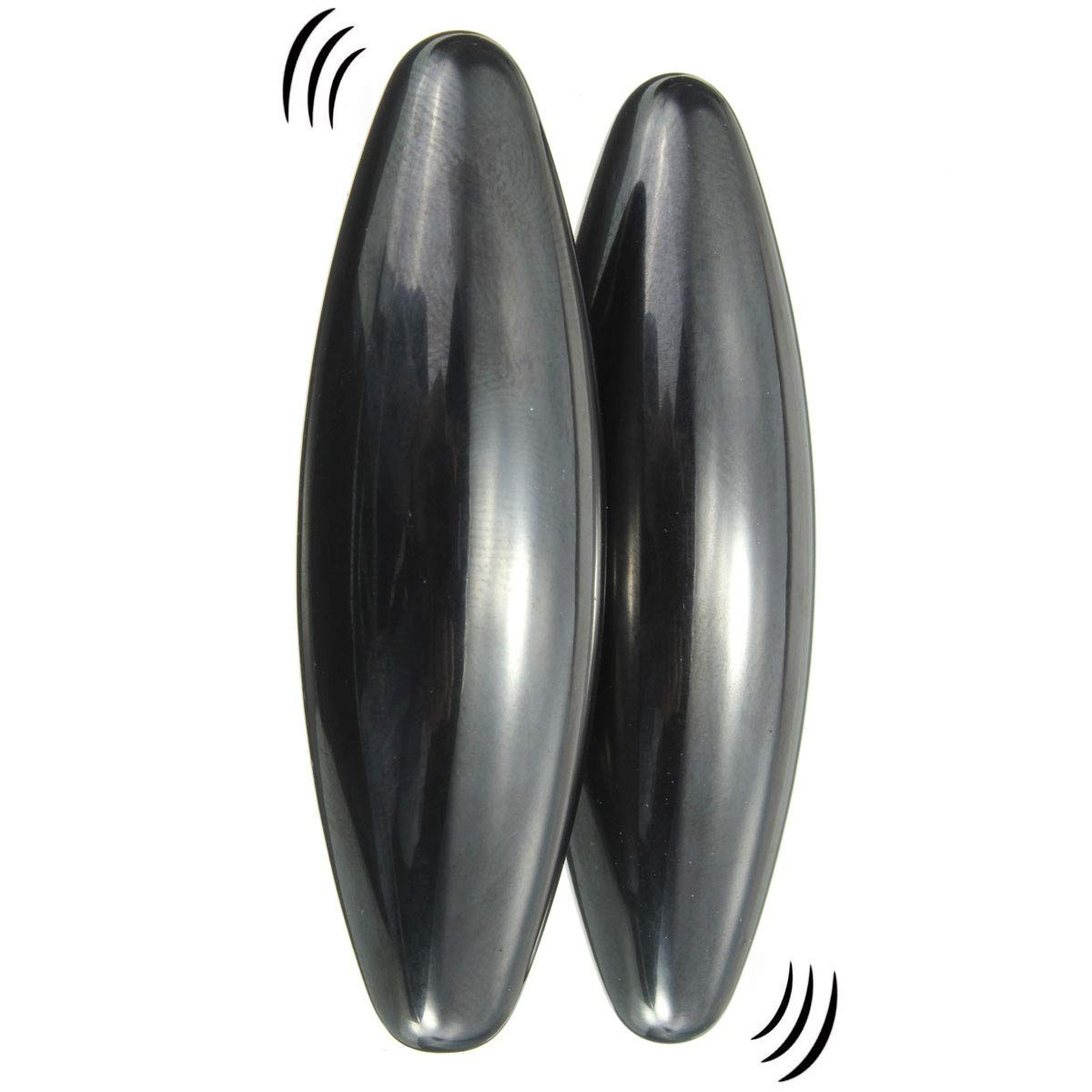 2 Large Powerful Rattle Magnets Spinning Buzzing Snake Eggs, Hematite Zingers, Educational Science Toy, Great Stress Relief for Autism, ADD, ADHD & OCD, Fidget Toy, Can be Used as Fridge Magnets