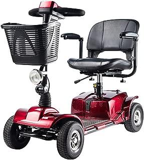 WPOSD Moto Eléctrica para Personas Mayores con 4 Ruedas, Plegable E-Scooter,Scooter Mobility Minusválidos,Peso Máximo Soportado 120Kg