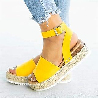 c73a4879 YYAMO Sandalias Mujer Cuñas Zapatos Bombas Tacones Altos Sandalias  Plataforma Flip Flop de Verano, Sandalias