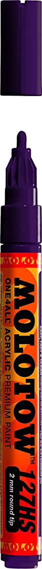 Molotow ONE4ALL Acrylic Paint Marker, 2mm, Purple Violet, 1 Each (127.239)