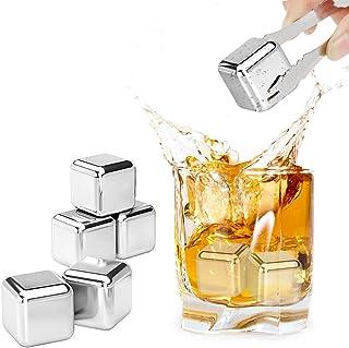 REIDEA Whisky Steine, Geschwindigkeit Eingefroren Eiswürfel, Wiederverwendbare kühlsteine, Zum Kühlen Von Whiskey Wein, Geschenke für Cocktail/Whiskyliebhaber, Bar Accessoires 8 Stück