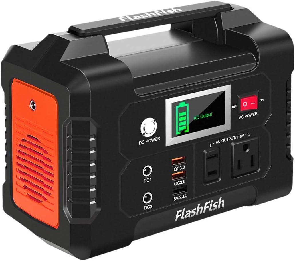 200W Portable Power Station Detroit Mall Seasonal Wrap Introduction Solar 40800mAh Generator FlashFish