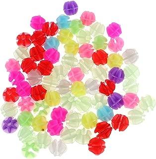 IMIKEYA 36pcs Bicycle Wheel Spoke Beads Colorful Luminous Bike Bicycle Wheel Spokes Plastic Clip Beads Decor