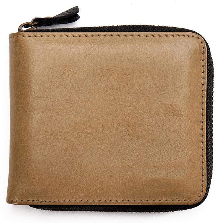 Ladies Handbag Leather Multi-color Ladies Zip Wallet Fashion Neutral Personality Wallet Small Zipper Wallet Soft Leather Wallet Slim Wallet (color   C)