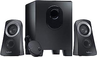 Logitech Z313 2.1 Multimedia Speaker System with Subwoofer, Full Range Audio, 50 Watts Peak Power, Strong Bass, 3.5mm Audi...
