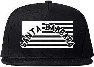 City Of Santa Barbara with United States Flag Snapback Hat Cap