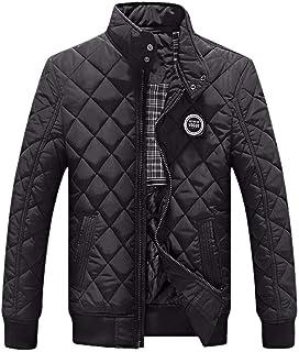 Targogo Giacca da Uomo Stand Collar Winter Uomo Manica Lunga Abbigliamento Slim Vintage Fit Mantenere Caldo Cappotto Outwe...