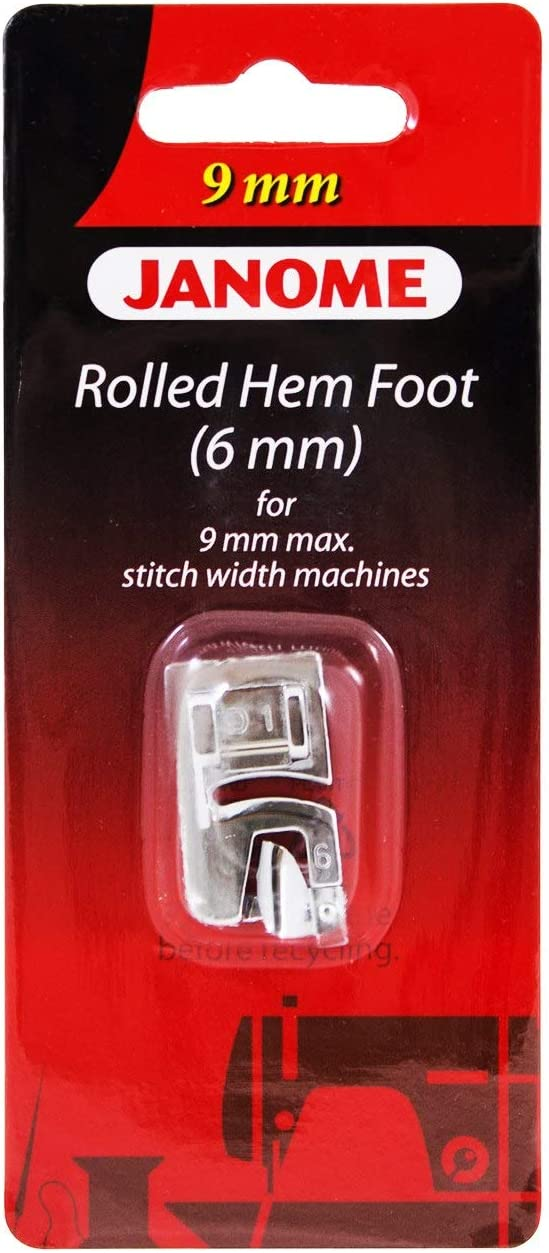 Janome Rolled Hem 2021 model Foot 6mm for Width Max 9mm Stitch Price reduction Machines