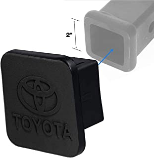 for Toyota Trailer Hitch Cover, Sturdy Rubber Receiver Tube Hitch Plug Tow Receiver Tube Plug Cap Fits to 2