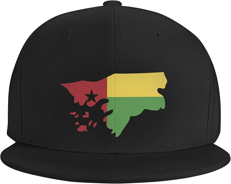 Guinea Bissau Flag Country of Africa Flat Brim Baseball Hat Cowboy Hat Sun Hat Unisex